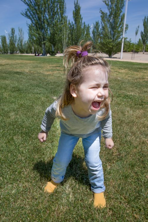 Angry ADHD Child | photo of girl screaming in park