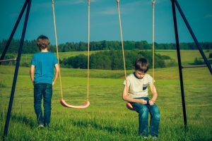Anxiety in Children | photo of boy being left alone on swings
