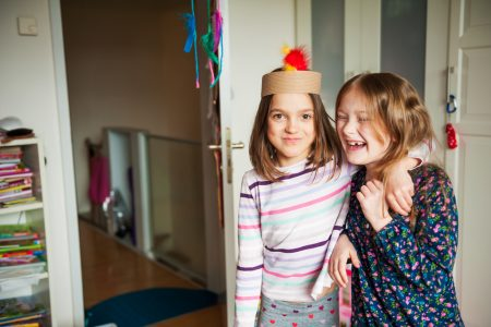 social skills training | photo of two girls having fun on playdate
