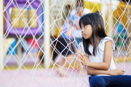 Social Skills For Kids | photo of lonely girl on playground